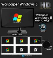 Wallpaper Windows Metro 8 logo by CaHilART
