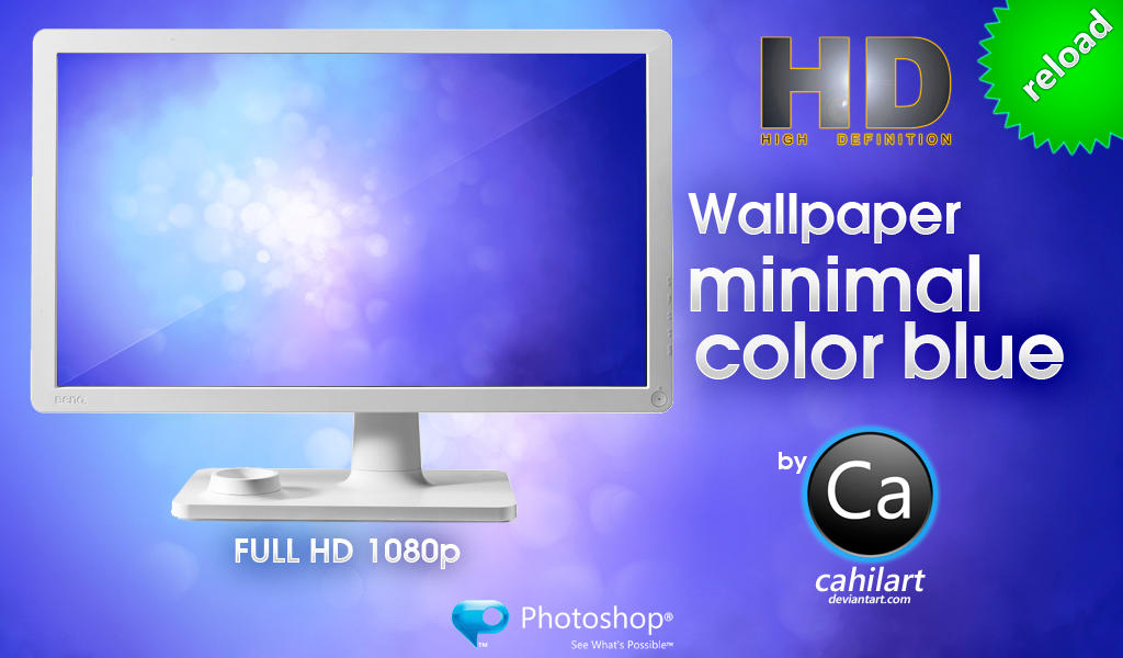 Wallpaper Minimal Color Blue by CaHilART