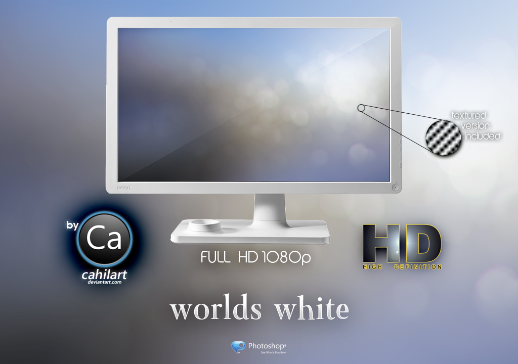 Wallpaper Worlds White by CaHilART