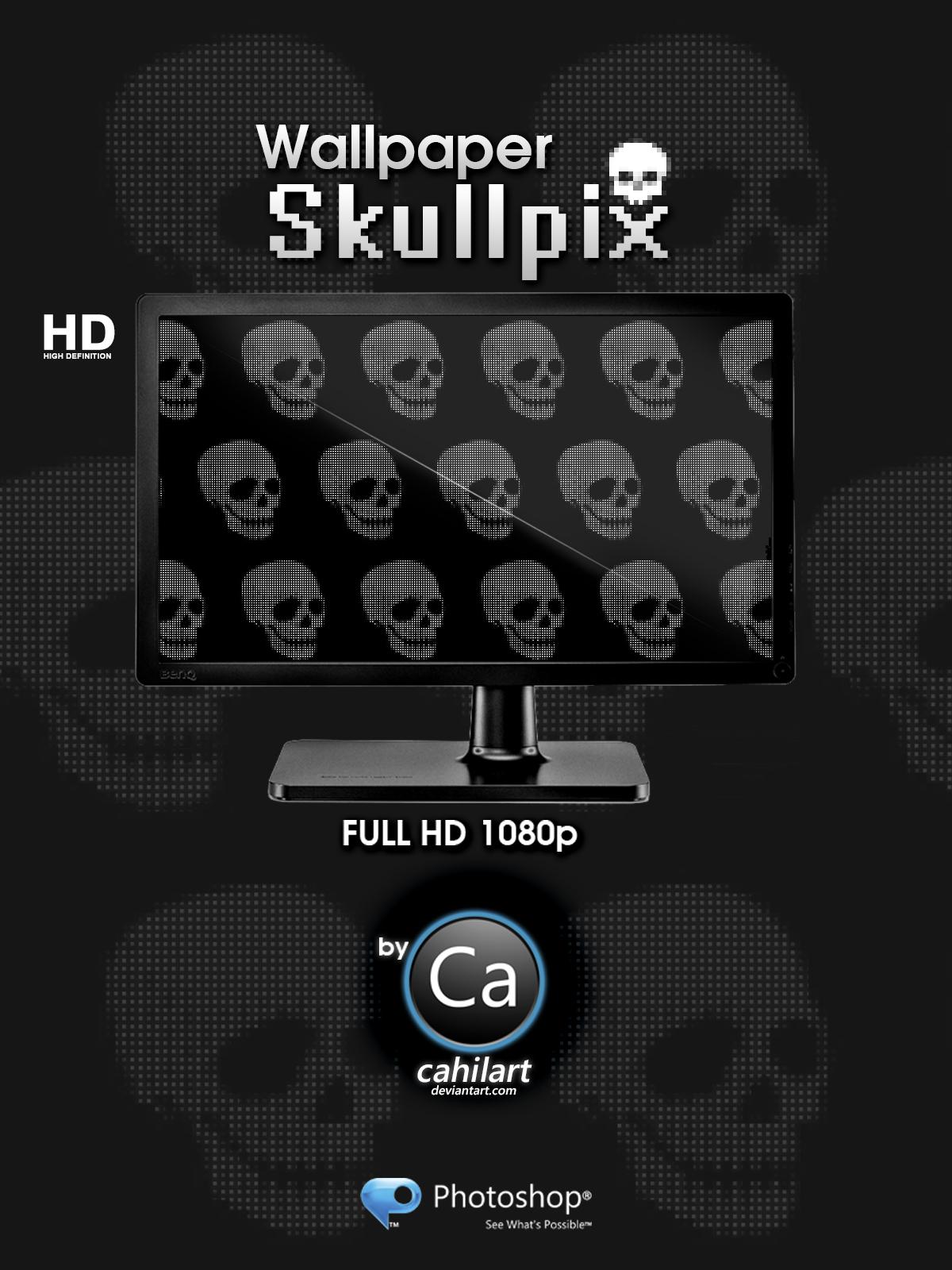 Wallpaper Skullpix by CaHilART