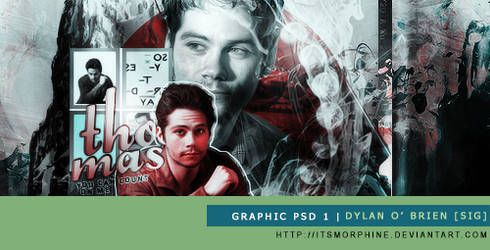 Graphic PSD 1 | Dylan O' Brien by itsmorphine