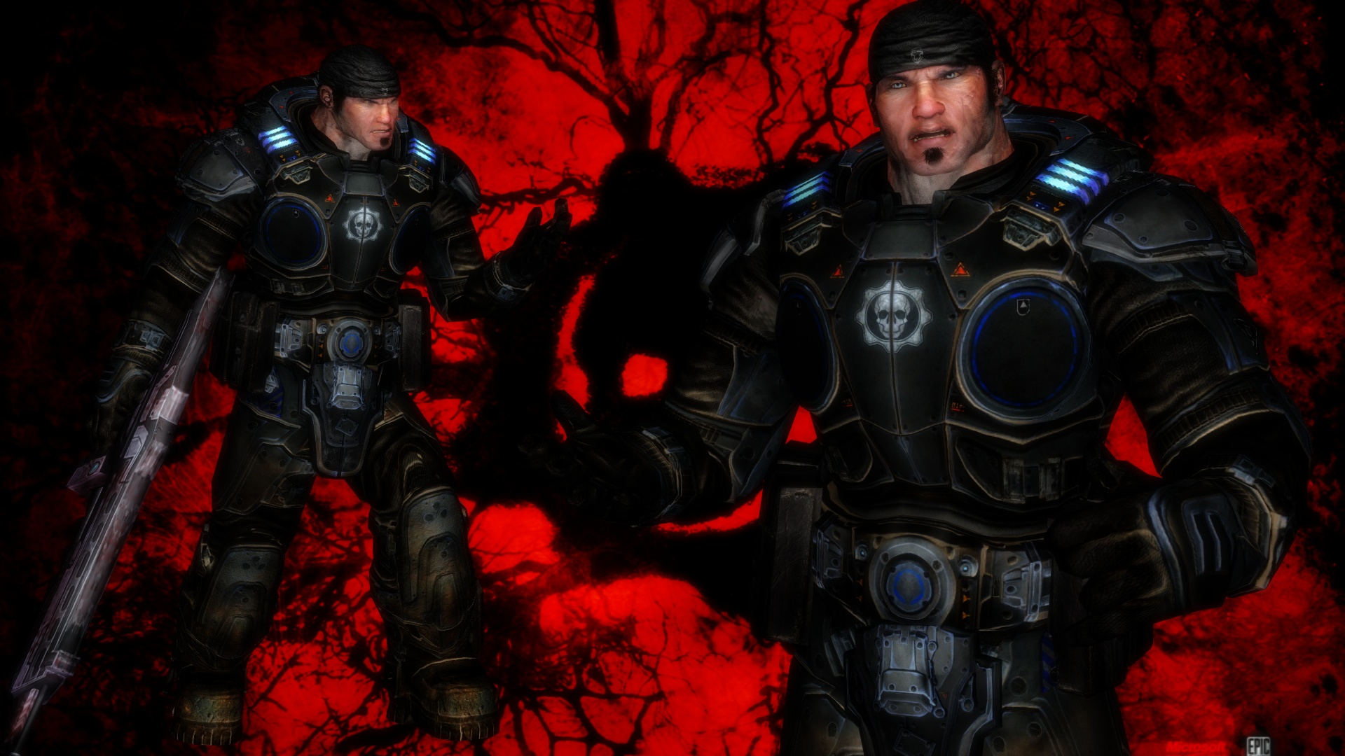 mmd dl marcus fenix gow weapon available by lgmods