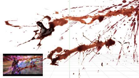 [MMD DL] Screen Blood Splash Effect V1.0