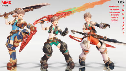 [MMD DL] Rex : Xenoblade by LGMODS
