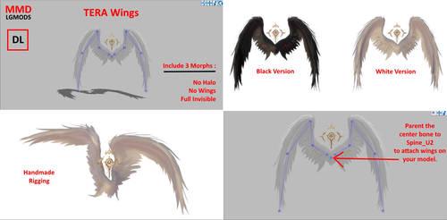 [MMD] TERA Wings (Download)