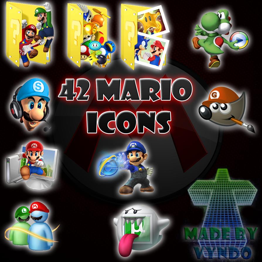 Mario dock 42 icons by vyndo