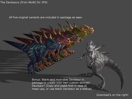 The Devilsaurs (From WoW) for XPS! by Jorn-K-Nightmane