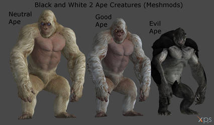 Black and White 2 Apes (Meshmod) for XPS/XNA!!! by Jorn-K-Nightmane