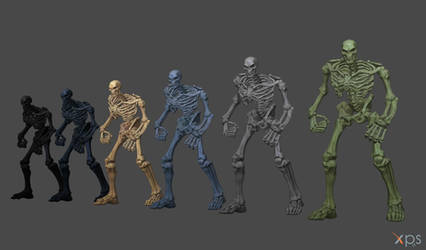 Skeletons (From Darksiders 3) for XNA/XPS! by Jorn-K-Nightmane