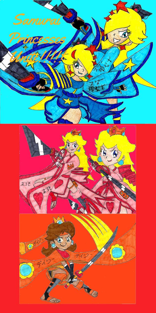 Samurai Princesses Unite!!!!! by JediMasterMaria89