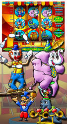 Circus slot machine anmations by comicsINC