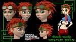 Viki Head 3D model and animation