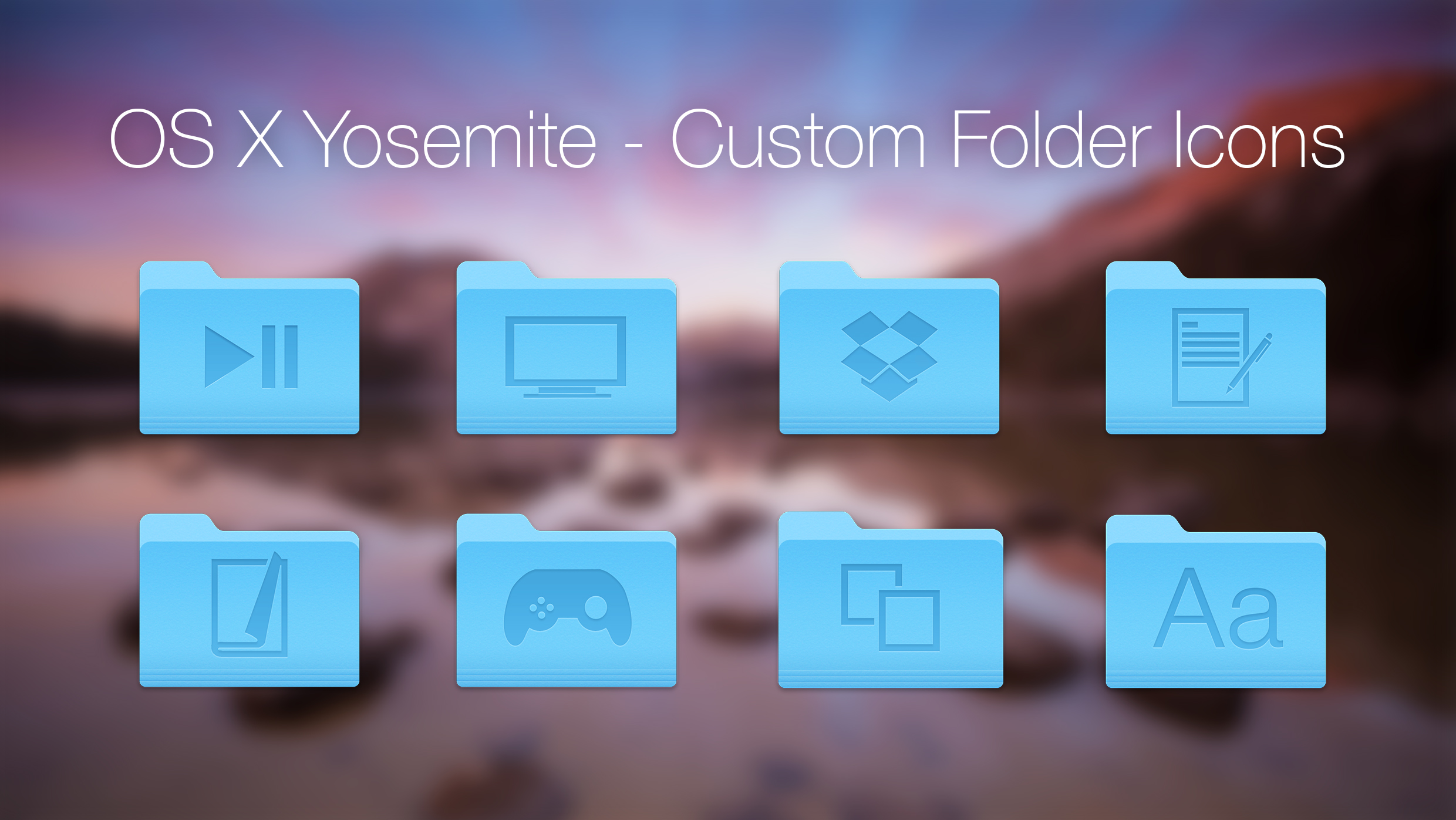 OS X Yosemite Custom Icons by Xethoz