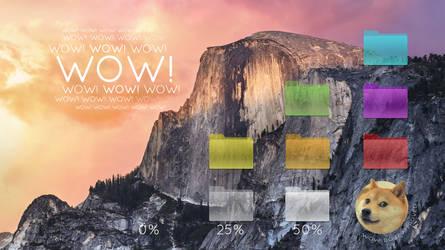 Transparent Desktop Folders for OS X Yosemite! by Xethoz