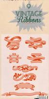 9 Vintage Ribbons Brushes
