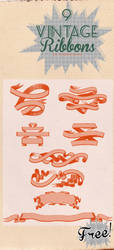 9 Vintage Ribbons Brushes by Innuend
