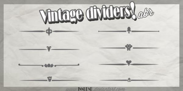Vintage Dividers .abr by Innuend