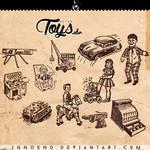 Retro toys brushes