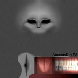 |IMVU|FREE Furry Head Template by AnxiousKin