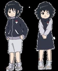 Uchiha twins (in color) by YukiDeidara
