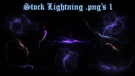 Stock Lightning .png's 1