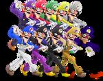 Waluigi - Smash Bros. Alternate Costumes