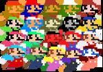 Classic Mario - Smash Bros. Alternate Costumes