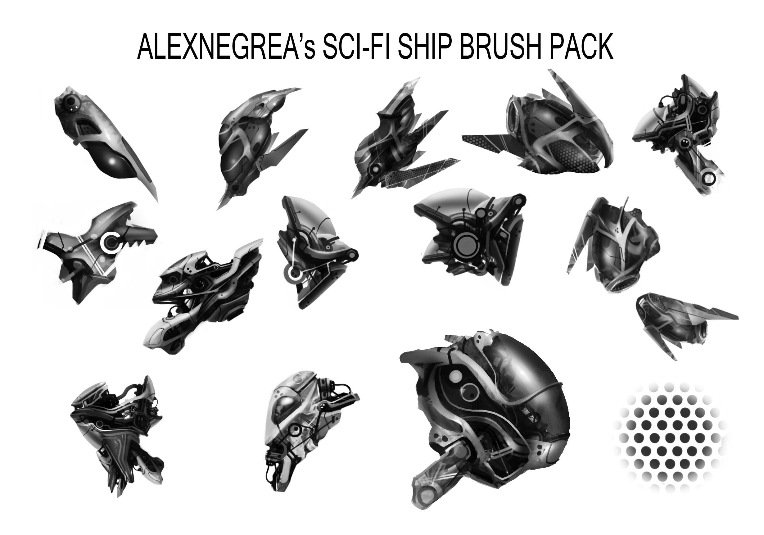 Sci-Fi Ship Brushes by alexnegrea