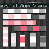GrayPink Stripe Patterns by Ed by zylair