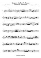Kaepora Gaebora's Theme Flute Sheet Music by sharrsxmusic