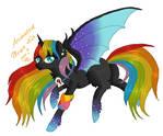 Rainbow Dusk Pagedoll Commission