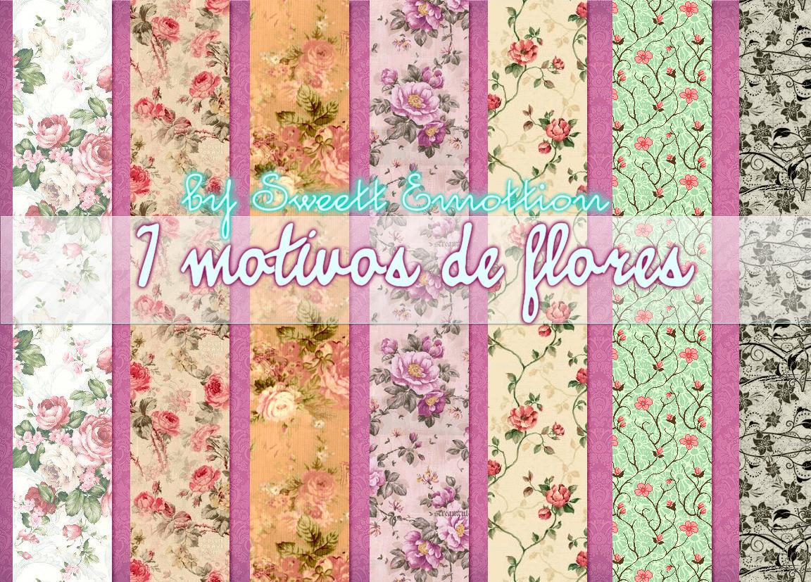 7 Motivos de flores by SweettEmottion