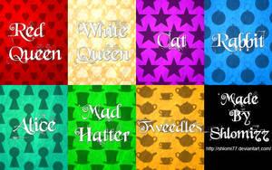 Alice In Wonderland Patterns by Shlomi77