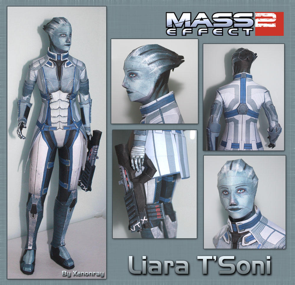 Liara Papercraft Download by XenonRay