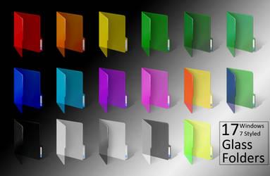 Windows 7 ColoredGlass Folders by Bonscha