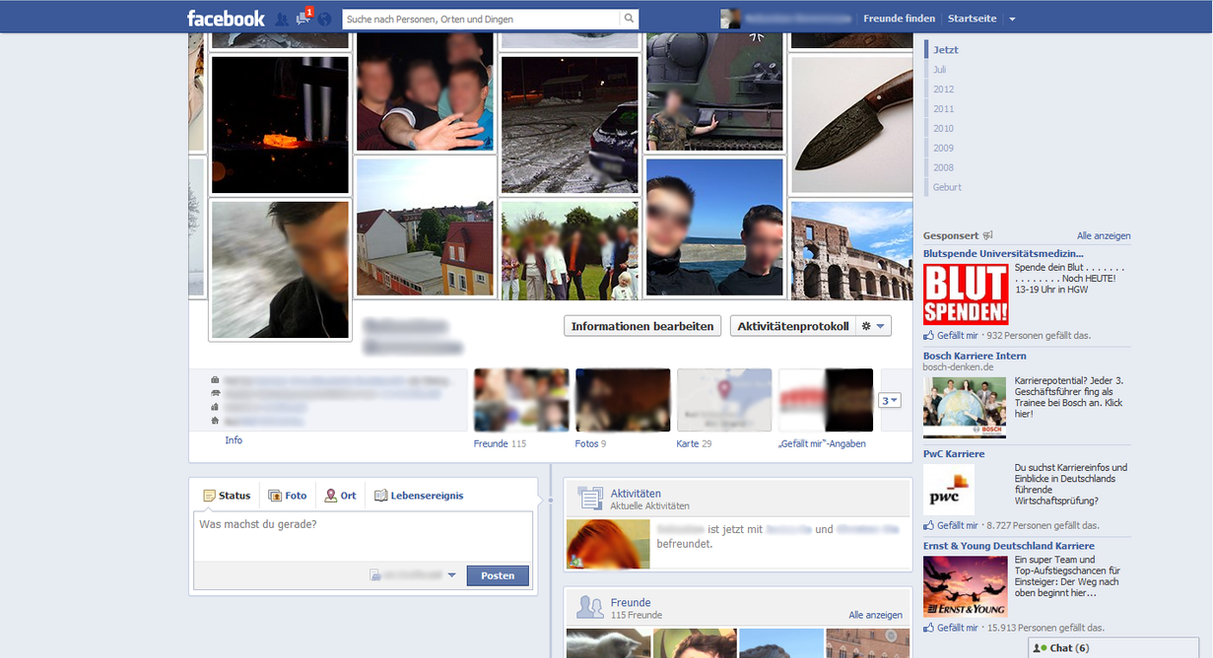 Facebook Timeline Design Template