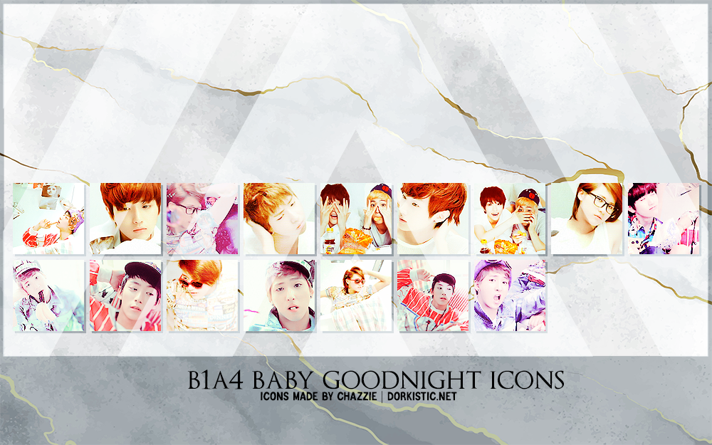 B1A4 Baby Goodnight Icons