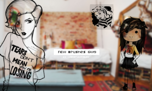 -New Brushes 6w9 by LuanaTutoriales