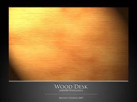 Wood Desk by thebigbentley