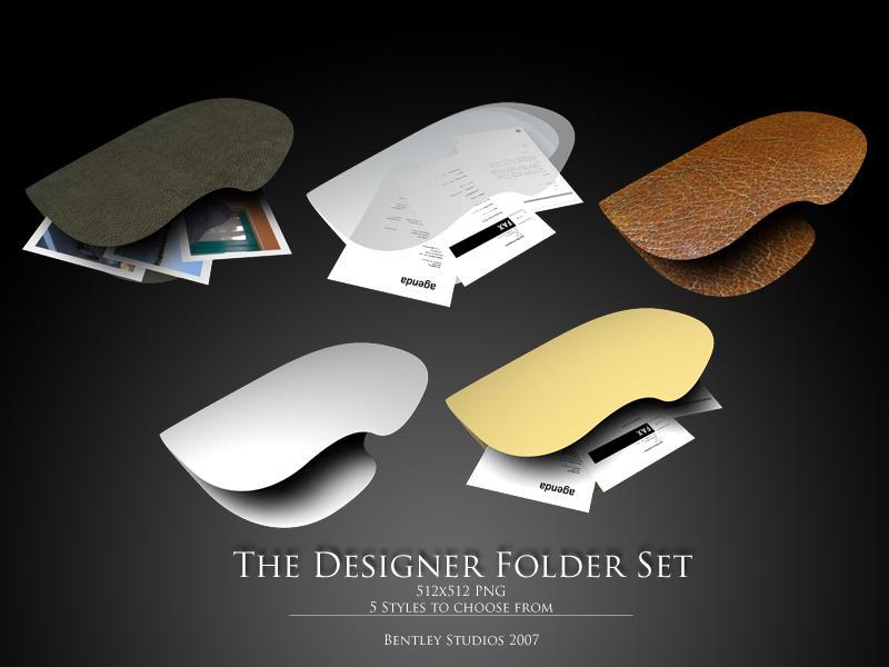 Designer Folder Set by thebigbentley