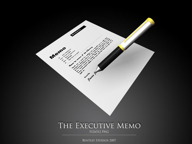 The Executive Memo by thebigbentley