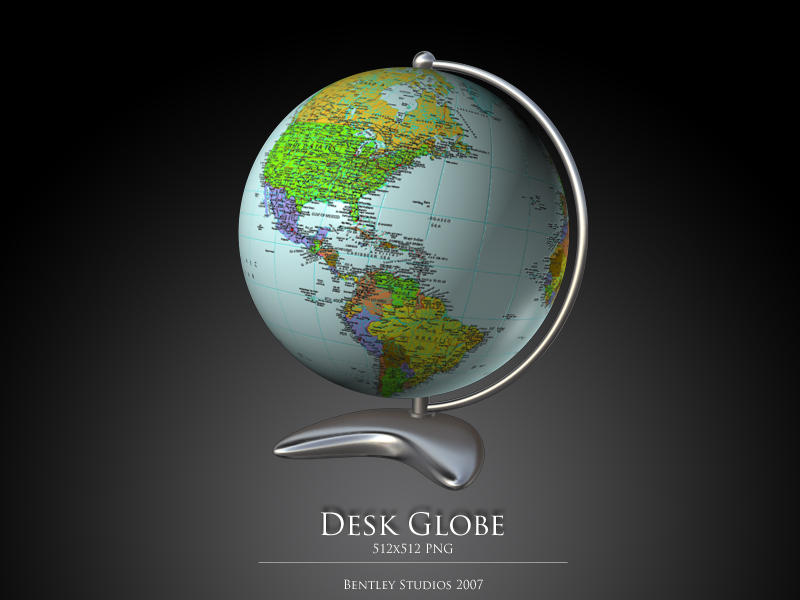 Desk Globe by thebigbentley