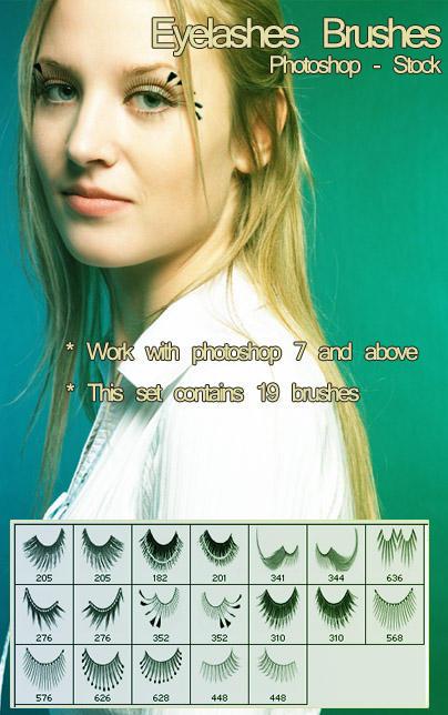 Eyelashes by photoshop-stock