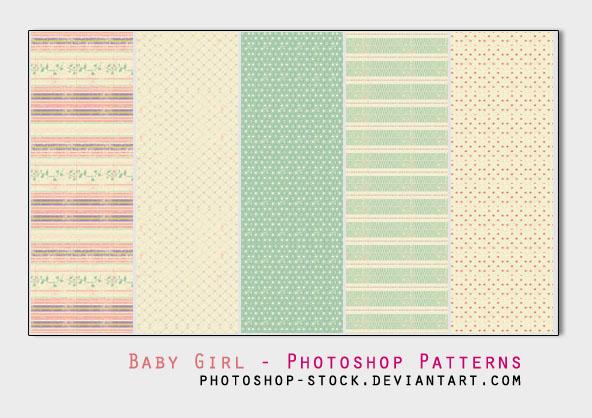 Baby Girl - Photoshop Patterns