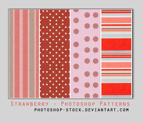Strawberry Pie - PS Patterns by photoshop-stock