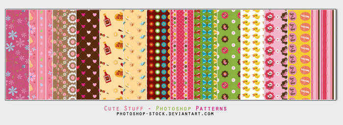 Cute Stuff - PS Patterns by photoshop-stock
