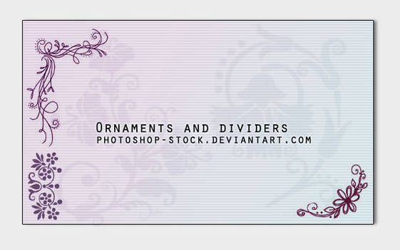 Ornaments and dividers