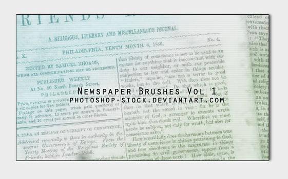 Newspaper Brushes Vol1