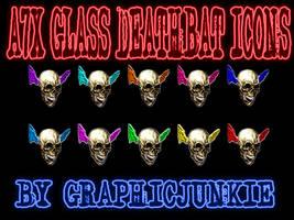 A7X Glass Deathbat Icons