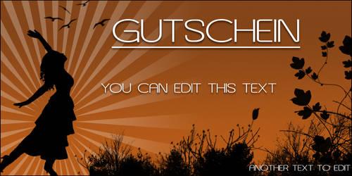 Voucher Gift Card PSD File